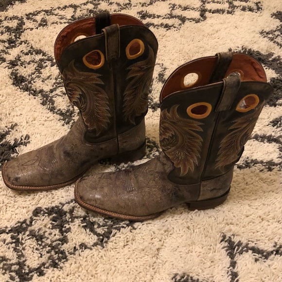 Rocky Squaretoed Cowboy Boots